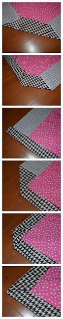 Easy quilt binding - self binding with backing fabric