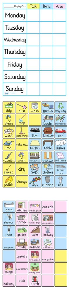 Twinkl Resources >> Chore Chart For Home  >> Classroom printables for Pre-School, Kindergarten, Elementary School and beyond! Rewards, Progress Charts, Class Management #homeschoolinginfographic