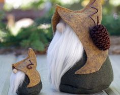 Nordic Gnome MINI and LARGE Set, Nordic Gnome, Scandinavian Gifts, OOAK, Gifts for Her, Christmas Gifts, Woodland Gifts, Gnome Lover Gifts