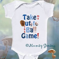 Baseball Onesie Personalized Onsie by Mumsy Goose by MumsyGoose, $15.95