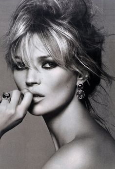 Kate Moss by Peter Lindbergh for a David Yurman ad campaign (2008)