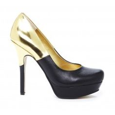 Gold & Black Pump.