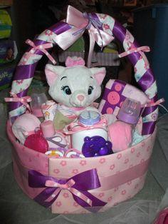 towels and diaper basket