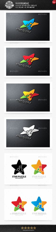 "Star Puzzle Logo — Photoshop PSD <a class=""pintag"" href=""/explore/friendship/"" title=""#friendship explore Pinterest"">#friendship</a> <a class=""pintag"" href=""/explore/creative/"" title=""#creative explore Pinterest"">#creative</a> • Available here → <a href=""https://graphicriver.net/item/star-puzzle-logo/9672569?ref=pxcr"" rel=""nofollow"" target=""_blank"">graphicriver.net/...</a>"