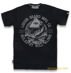Will Alone.  Liquor Brand Camiseta Chico TSM 258.  100% algodón. Encuéntrala en shopsnapo.com