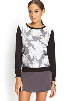 Textured Floral Knit Top | FOREVER21 - 2000137565 Nice floral pattern.