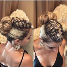 Prom Braided Updo Hairstyle