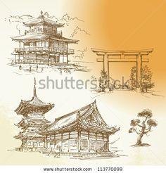 Japan Sketch Stock Photos, Japan Sketch Stock Photography, Japan Sketch Stock Images : Shutterstock.com