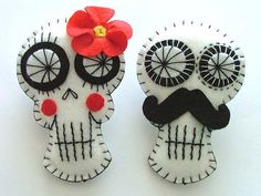 Day of the Dead Wedding Boutonnieres by TheDollCityRocker on Etsy, $22.00