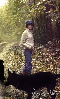 """Beatles John Lennon Woodstock, New York 1974 / Walk in the Wilderness. """"Staying at a friend's house in Ellenville near Woodstock, NY in the Fall 1974. John and I decided to take a walk on the trail with their dogs Delilah and Shazam."""" The Place to be! Artists, musicians, actors, actresses and the rich and famous love the Catskill's!Call Upstate NY & Catskill's Real Estate & Land Expert. Kellie Place at Century 21 ~ 607-434-5263 www.century21upstatenewyork.com"""