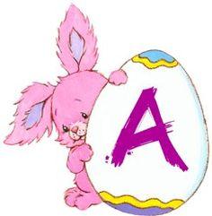 Oh my Alfabetos!: Alfabeto para Pascua de conejitos tiernos con cascarones.