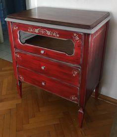 Kırmızı Antika El Boyama Kırmızı Dolap - Dekopasaj.Com - dekopasaj.com