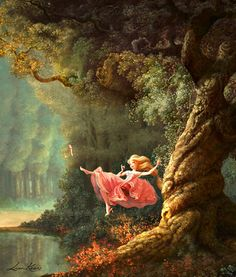 concept art for tangled (with a nod to jean-honore fragonard).
