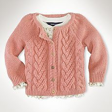 """Photo from album """"Неразобранное"""" on Yandex. Knitting For Kids, Baby Knitting Patterns, Crochet Baby, Knit Crochet, Toddler Sweater, Baby Pullover, Girl Trends, Baby Sweaters, Pulls"""