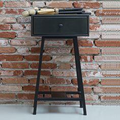 Chevet en métal peint noir 1 tiroir Skybox