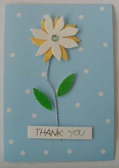 pinterest greeting cards homemade | Handmade Thank You Card Designs Greeting Card/Thank