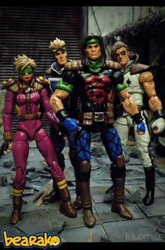 Rictor (Marvel Universe) Custom Action Figure, New Mutants, Liefeld