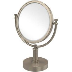 8 inch Vanity Top Make-Up Mirror, 2x Magnification (Build to Order)