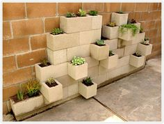 concrete block planters