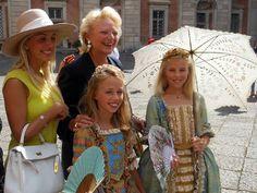 TRH Princess Maria Carolina and Princess Maria Chiara of Bourbon Two Sicilies