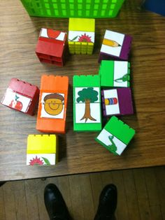 Math center: 2 parts in a whole. Could do this with Numbers and Tally Marks, Capital and lowercase letters, etc.