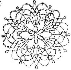 Captivating All About Crochet Ideas. Awe Inspiring All About Crochet Ideas. Mandala Au Crochet, Crochet Snowflake Pattern, Crochet Motif Patterns, Crochet Circles, Crochet Snowflakes, Crochet Diagram, Crochet Chart, Crochet Squares, Thread Crochet
