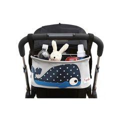 Absolut praktische Kinderwagentasche, Wal, 16 x 32 x 12 cm, von 3 sprouts