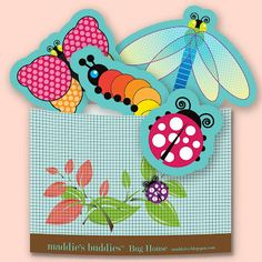 "Art, DIY Free Printables, Kid Crafts, Party Decor, Notecards, Recipe Cards, DIY Journals, Felt Toys: Maddie's Buddies™ ""Bug House"" Toy Printable!"