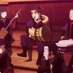 Aang playing sunki horn [gif]