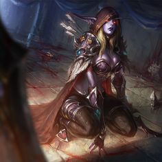 HD wallpaper: Drow Ranger graphic wallpaper, World of Warcraft, Sylvanas Windrunner World Of Warcraft, Warcraft 3, Overwatch, Lady Sylvanas, Banshee Queen, Blood Wallpaper, Hd Wallpaper, Sylvanas Windrunner, Heroes Of The Storm