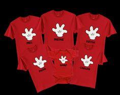 Disney Glove Mickey Family Vacation T-Shirts (Family of 3) on Etsy, $48.99