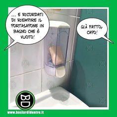 Missione compiuta, capo! Tagga i tuoi amici e #condividi #bastardidentro #sapone #bagno www.bastardidentro.it
