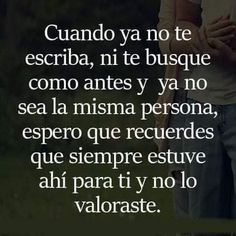Likes, 4 Comments - Palabras Enred. Spanish Quotes Love, Spanish Inspirational Quotes, Sad Love Quotes, Romantic Quotes, Cute Quotes, Amor Quotes, Wisdom Quotes, Words Quotes, Ex Amor