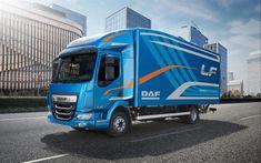 Download wallpapers DAF LF 210, 4k, trucks, 2017 truck, DAF LF, cargo transport, new LF, DAF