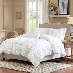 4-Piece Harlow Comforter Set in White