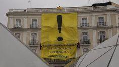 Greenpeace despliega una pancarta en la Puerta del Sol contra la 'ley mordaza' - Elecciones Europeas - Diario digital Nueva Tribuna