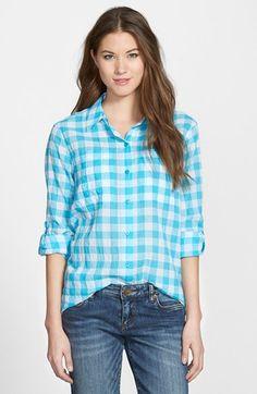 MICHAEL Michael Kors Roll Sleeve Check Plaid Shirt (Regular & Petite) available at #Nordstrom
