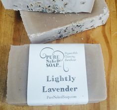 Lightly Lavender Soap organic olive oil 100% all by  #PureNakedSoap #organicskincare #coldprocesssoap #homemadesoap #naturalsoap #organicbeauty #homemadesoap