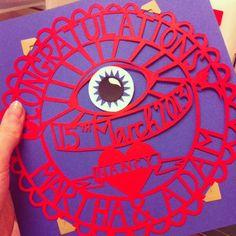 Christening gift. Papercut pagan eye by Poppy Chancellor www.poppychancellor.com #papercut