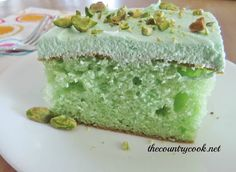 I think this is the recipe my aunt makes, and this cake is AMAZING!!! Pistachio Cake