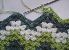 Green Granny Ripple Pattern