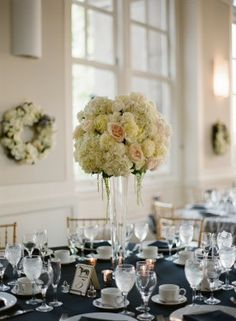 Classic Black and Cream Washington DC Wedding Reception: Stephanie + Chase, photo by @Kristen - Storefront Life Gardner