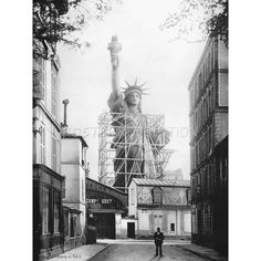 Statue of Liberty in Paris 1886 Vintage