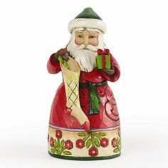 Jim Shore Pint Sized Santa with Stocking Figurine - Perfect Christmas Gift