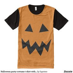 Halloween party costume t shirt with pumpkin face