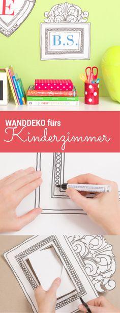 Idee Für Eine Wanddeko Kinderzimmer   Für Jungen Und Für Mädchen. Einfach  Verschiedene Fotos Von