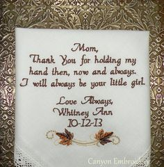 Fall Wedding Gift Embroidered Wedding by CanyonEmbroidery on Etsy, $27.50