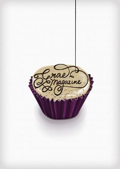 This is for the anniversary issue hence the cake! Typography Inspiration, Typography Design, Chocolate Typography, Delicious Desserts, Dessert Recipes, Dessert Food, Beer Label Design, Types Of Cakes, Illustration Sketches