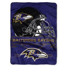 Baltimore Ravens Blanket 60x80 Raschel Prestige Designÿ
