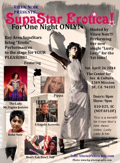 Vixen Noir presents… SupaStar Erotica! 
